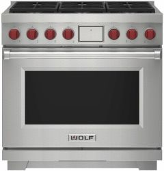 Wolf Range Cooker Dual Fuel ICBDF36650-S-P - Stainless Steel
