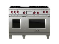 Wolf Range Cooker Dual Fuel ICBDF486G - Stainless Steel