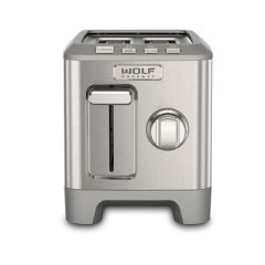 Wolf Toaster ICBWGTR122S-UK - Stainless Steel / Silver Knob