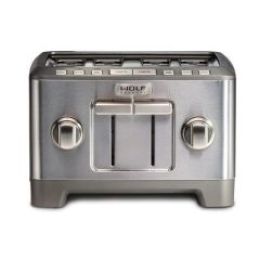Wolf Toaster ICBWGTR124S-UK - Stainless Steel / Silver Knob