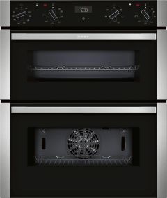 NEFF Double B/U Oven Electric J1ACE4HN0B - Stainless Steel / Black