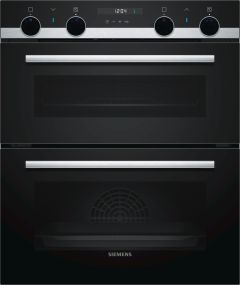 Siemens Double B/U Oven Electric NB535ABS0B - Black / Stainless Steel