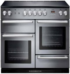 Rangemaster Range Cooker Induction NEX110EISS-C - Stainless Steel / Chrome