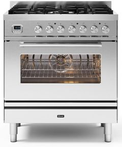 Ilve Range Cooker Dual Fuel P08CWE3 - Stainless Steel