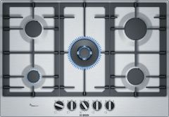 Bosch Gas Hob PCQ7A5B90 - Stainless Steel