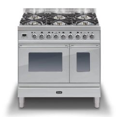 Ilve Range Cooker Dual Fuel PDW90E3 - Stainless Steel