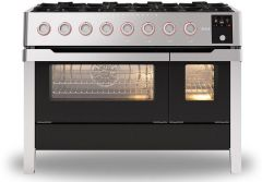 Ilve Range Cooker Dual Fuel PM128DS3-SS - Stainless Steel