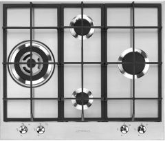 Smeg Gas Hob PX364L - Stainless Steel