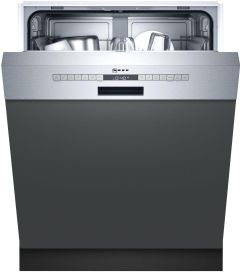 NEFF Built In 60 Cm Dishwasher Semi S145ITS04G - Stainless Steel