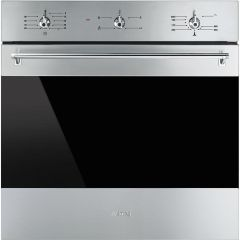 Smeg Single Oven Gas SF6341GVX - Stainless Steel / Dark Glass