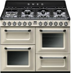 Smeg Range Cooker Dual Fuel TR4110P1 - Cream