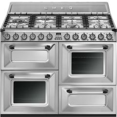 Smeg Range Cooker Dual Fuel TR4110X - Stainless Steel