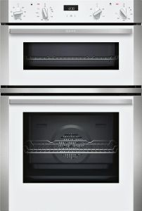 NEFF Double B/I Oven Electric U1ACE2HW0B - Stainless Steel / White