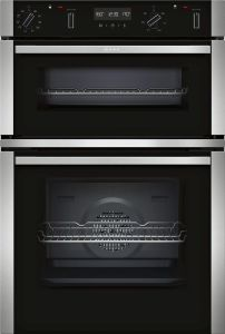 NEFF Double B/I Oven Electric U2ACM7HN0B - Stainless Steel / Black