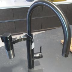 Franke Tap VITJBKSS-EX-DISPLAY - Matt Black / Silk Steel