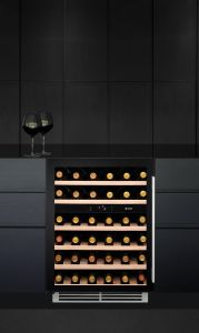 Caple Built In Wine Cooler WI6134 - Black / Glass