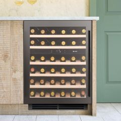 Caple Built In Wine Cooler WI6135GM - Gunmetal