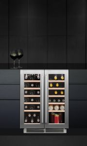 Caple Built In Wine Cooler WI6232 - Stainless Steel / Glass