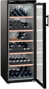 Liebherr Freestanding Wine Cooler WKB4212 - Black / Glass Door