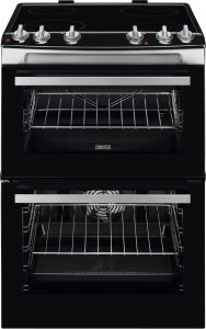 Zanussi Slot In Cooker Ceramic ZCV66050XA - Stainless Steel