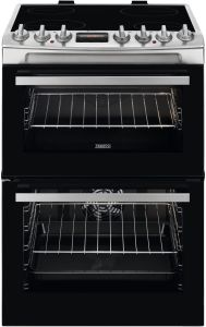 Zanussi Slot In Cooker Ceramic ZCV69360XA - Stainless Steel